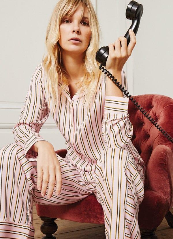 cyell stripe soft pink pyjamatop met knopen 950506-212 en pyjamabroek 950210-212