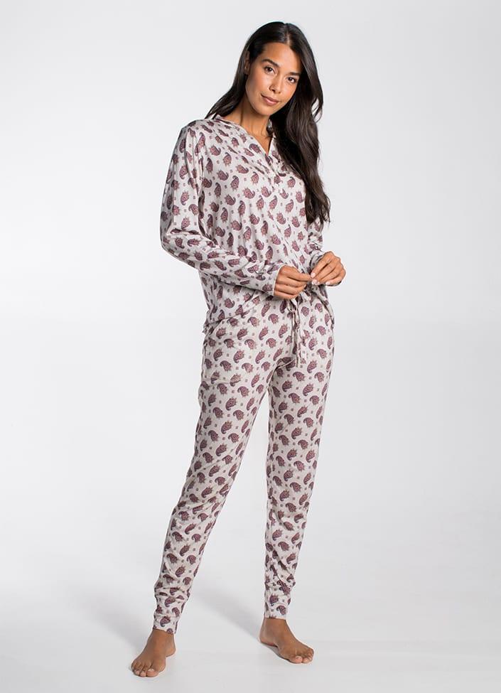 Cyell Empress pyjamatop - maat 38 (M) Paisley/Print