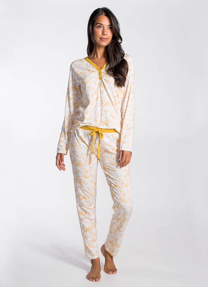 Cyell Golden Pavilion pyjamatop - maat 38 (M) Bloemenprint/Print