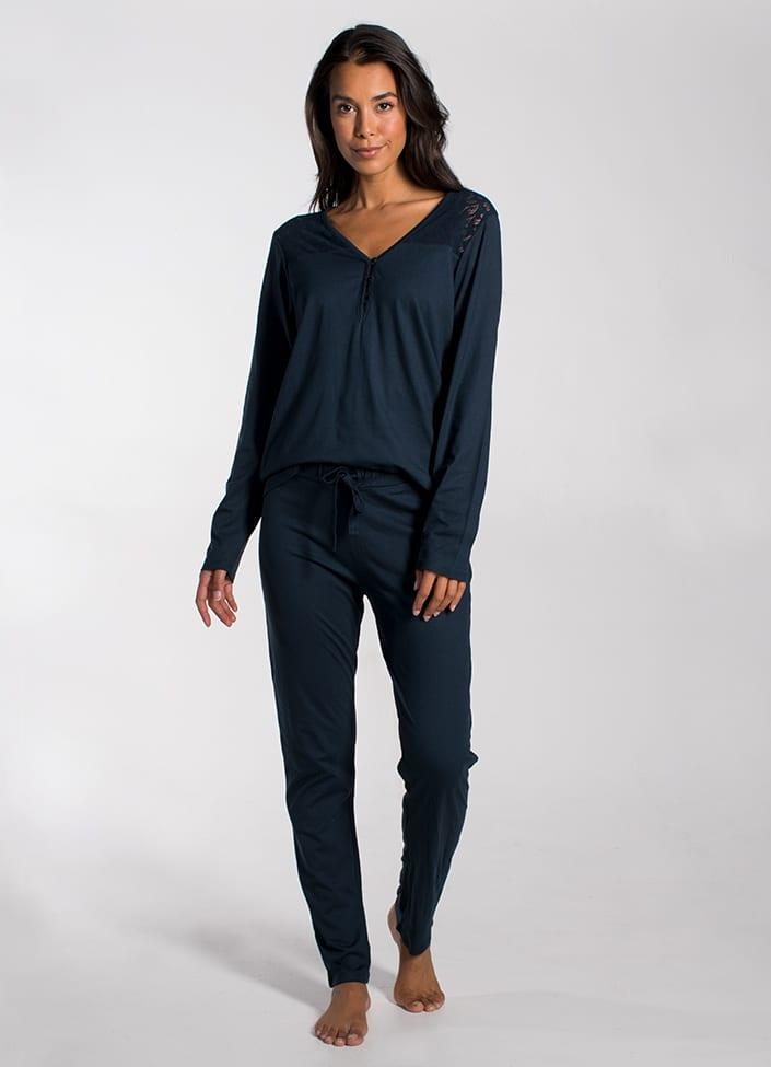 Cyell Harmony Ink pyjamatop - maat 42 (XL) blauw