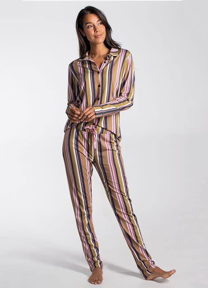 Cyell Samurai pyjamatop - maat 36 (S)/Gestreept