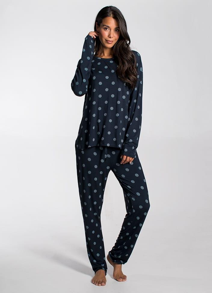 Cyell Simply Zen pyjamatop - maat 44 (XXL) blauw