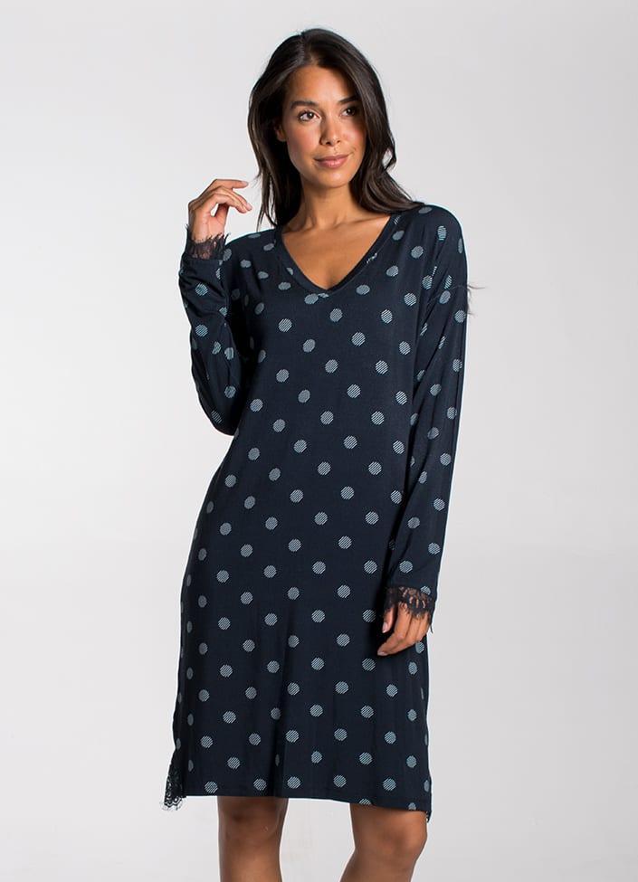 Cyell Simply Zen nachthemd - maat 42 (XL) blauw