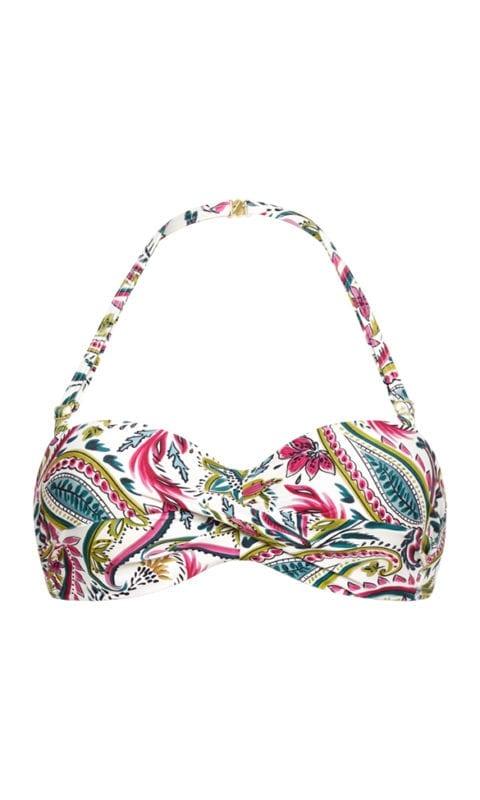 CYELL Wajang Floral bandeau bikinitop Voorgevormde cups en beugel
