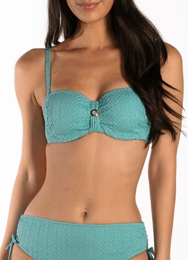 CYELL Azure Sky bandeau bikinitop