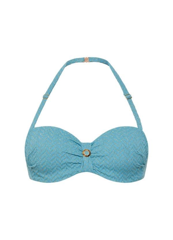 CYELL Azure Sky bandeau bikinitop Voorgevormde cups & beugel