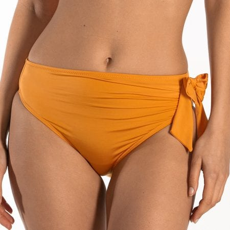 CYELL Shiny Bronze hoog bikinibroekje Hoge pasvorm
