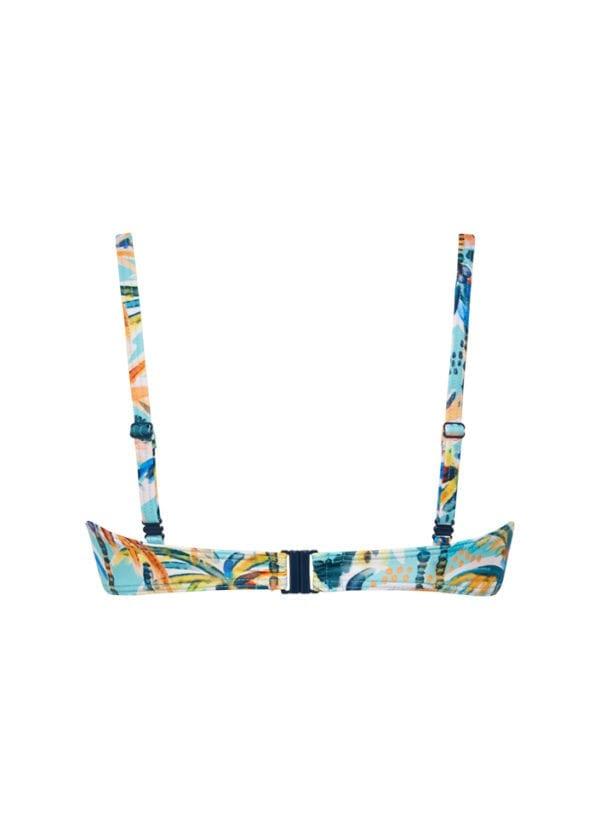 CYELL Under the Palms bandeau bikinitop Voorgevormde cups & beugel