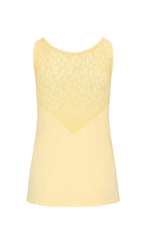 CYELL Lemonade pyjamatop mouwloos katoen/modal