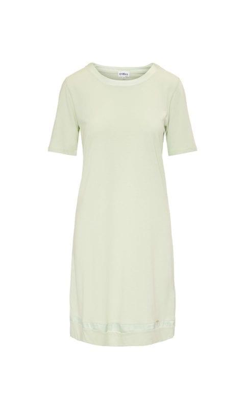 CYELL Satin Laurel nachthemd korte mouwen katoen/modal