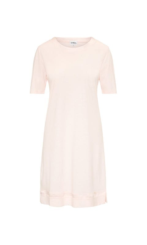 CYELL Satin Rose Powder nachthemd korte mouwen katoen/modal