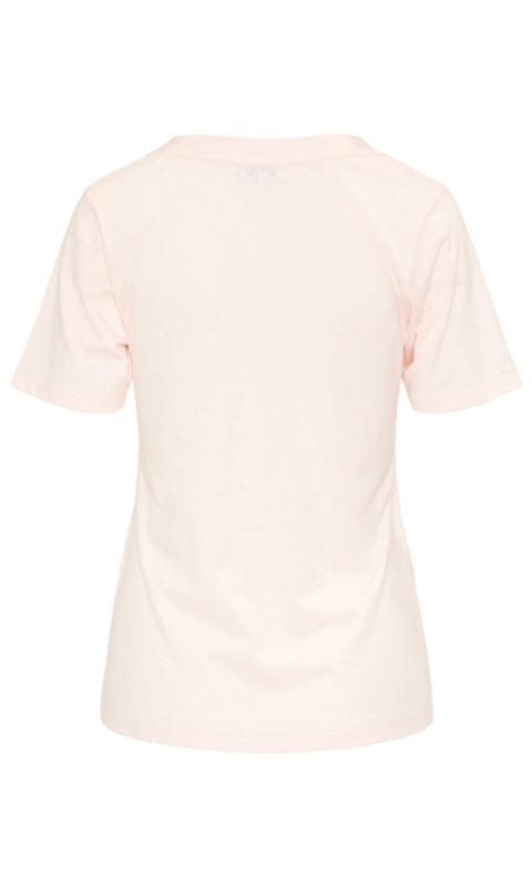 CYELL Satin Rose Powder pyjamatop korte mouwen katoen/modal