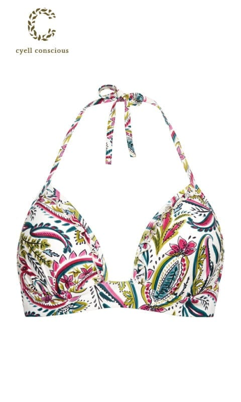 CYELL Wajang Floral triangel bikinitop Push up cups