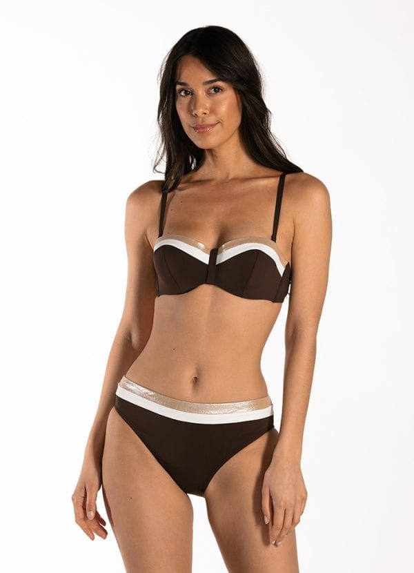 CYELL Colors of Luxor bandeau bikinitop Voorgevormde cups & beugel & Colors of Luxor regular bikinibroekje Normale taille