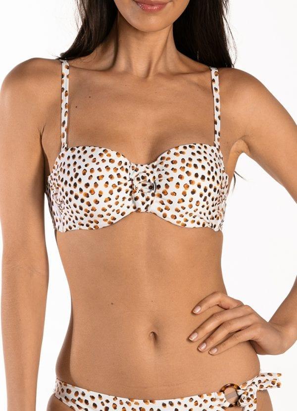CYELL Spot On bandeau bikinitop Voorgevormde cups en beugel
