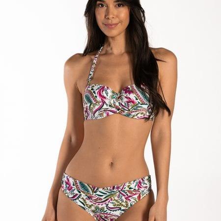 CYELL Wajang Floral bandeau bikinitop Voorgevormde cups en beugel & regular bikinibroekje Normale pasvorm