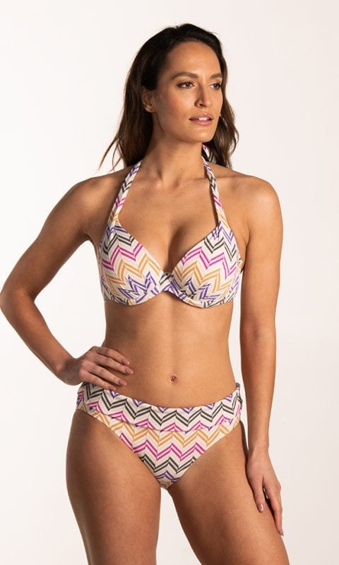 CYELL Mirage omslag bikinibroekje Normale pasvorm & Mirage plunge bikinitop Voorgevormde cups & beugel