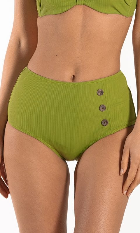 CYELL Pandan Cake hoog bikinibroekje Hoge pasvorm