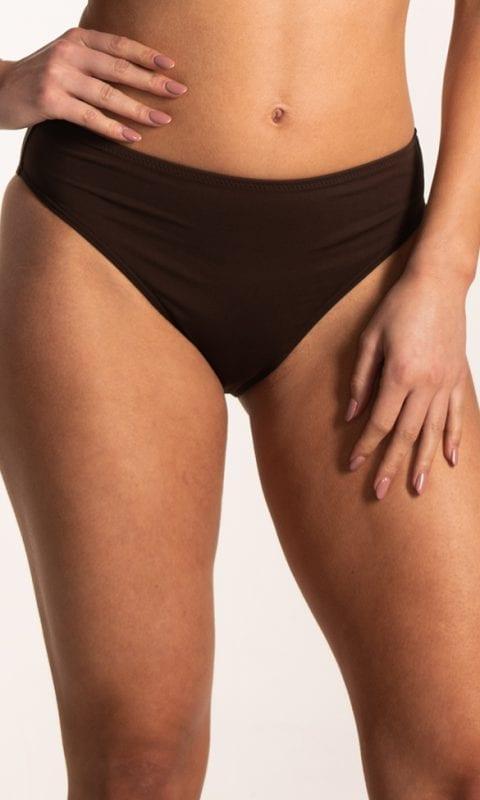 CYELL Solids Brown hoog bikinibroekje Hoge taille