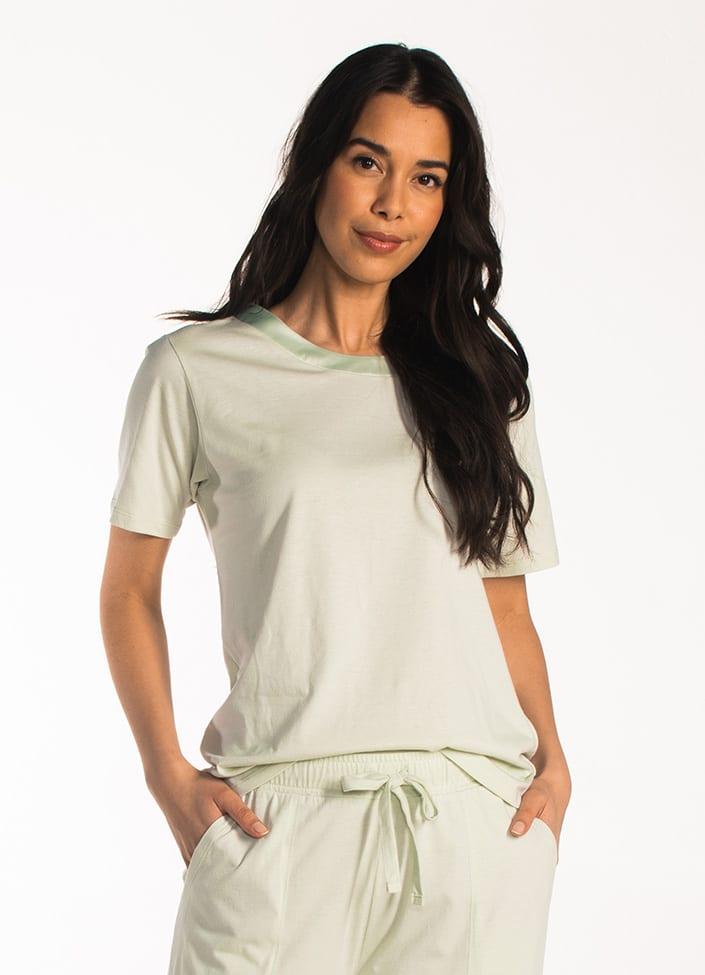 Cyell Satin Laurel pyjamatop korte mouwen maat 36 (S) paars